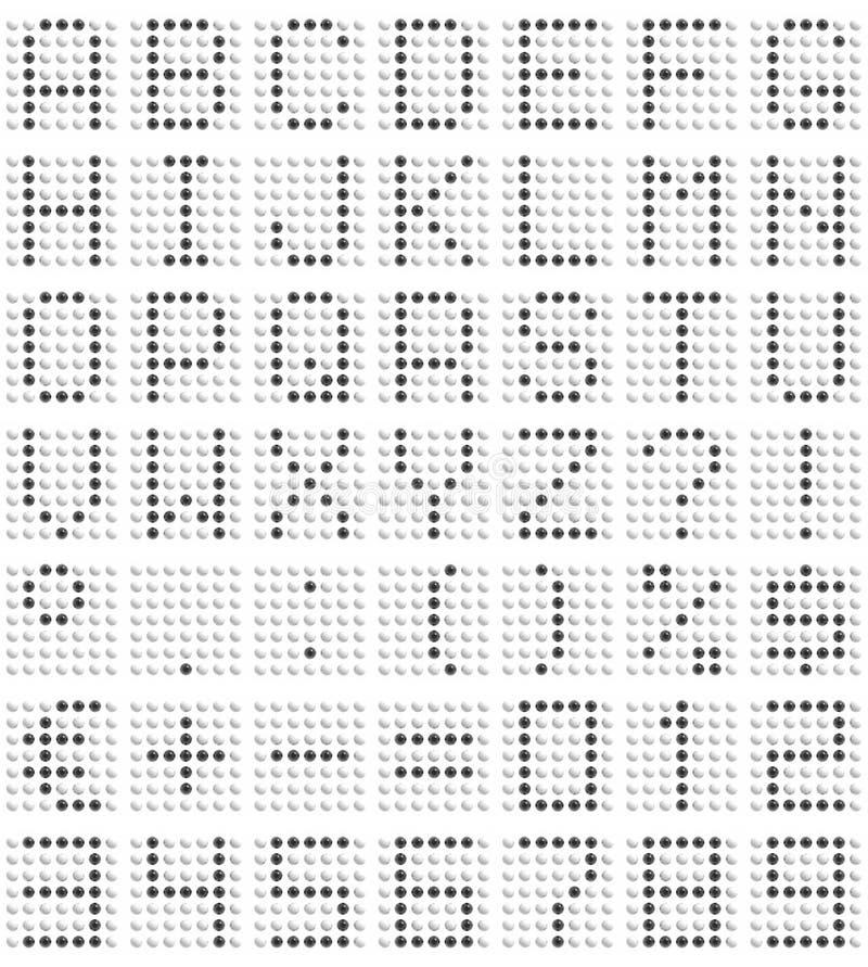 Fuente de la matriz de puntos stock de ilustración