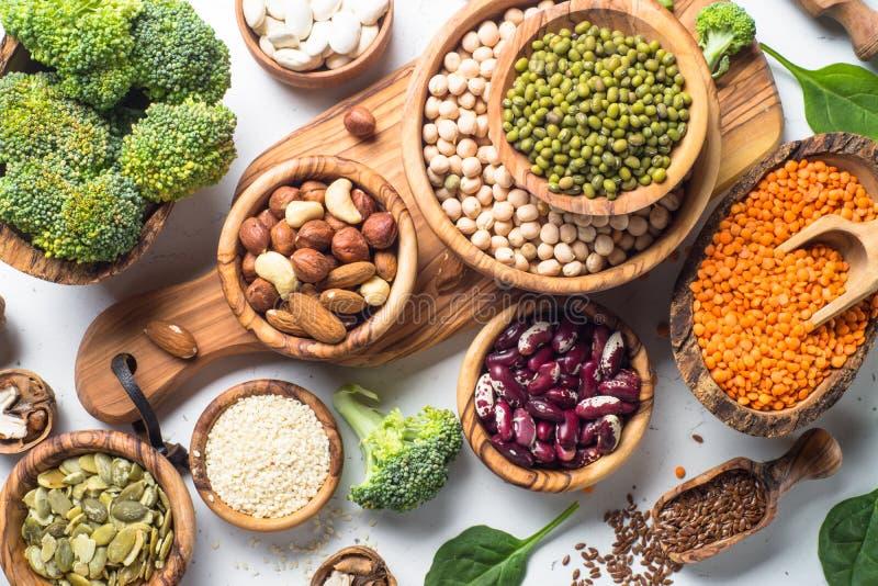 Fuente de la proteína del vegano fotos de archivo libres de regalías