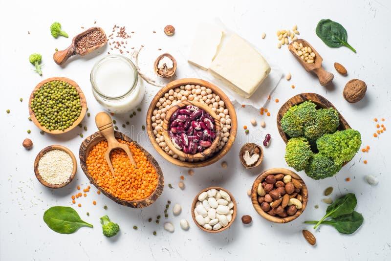 Fuente de la proteína del vegano foto de archivo libre de regalías