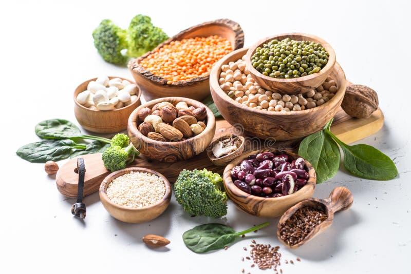 Fuente de la proteína del vegano imagen de archivo libre de regalías