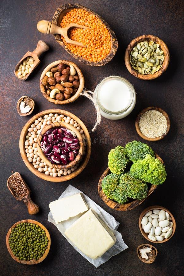 Fuente de la proteína del vegano fotografía de archivo