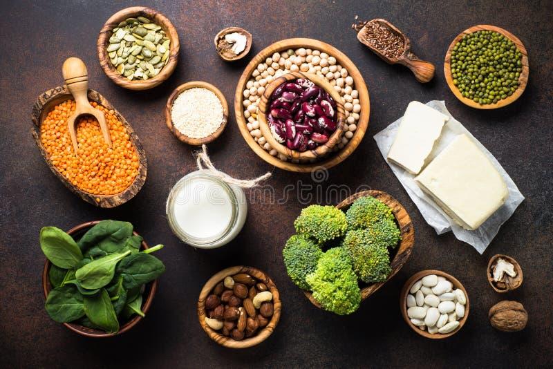 Fuente de la proteína del vegano imágenes de archivo libres de regalías