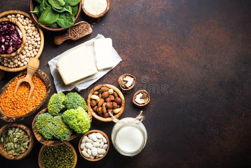 Fuente de la proteína del vegano fotos de archivo