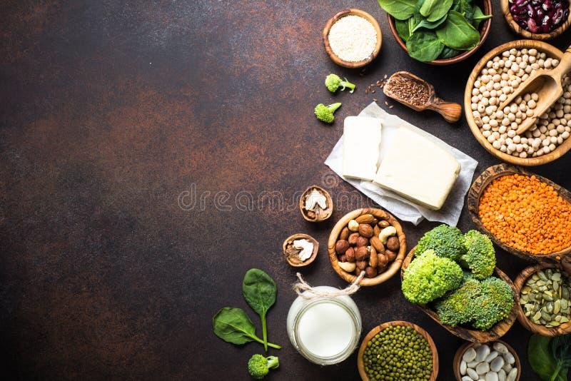 Fuente de la proteína del vegano imagenes de archivo