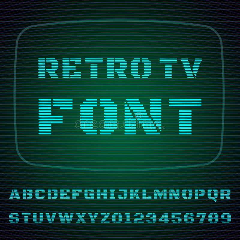 Fuente de la TV ilustración del vector