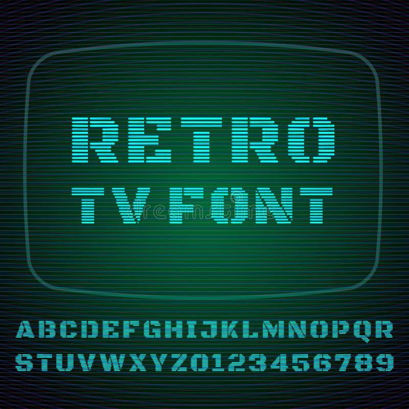 Fuente de la TV stock de ilustración