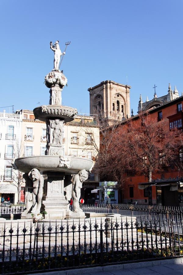 Fuente De Los Gigantones In Granada Stock Photo - Image of ...