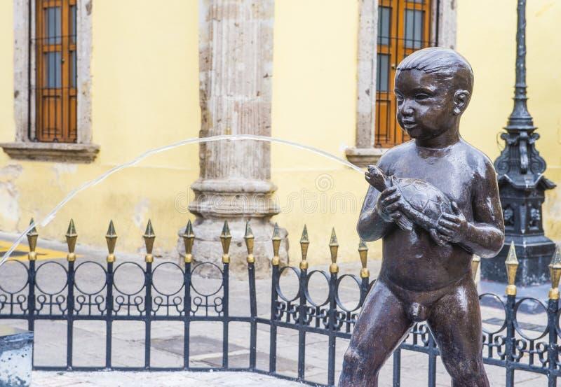 Fuente De Los Ninos Miones w Guadalajara fotografia royalty free