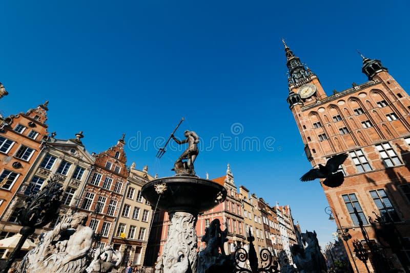 Fuente de Neptuno, Gdansk, Polonia foto de archivo libre de regalías