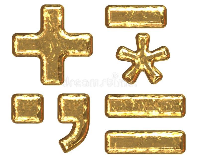 Fuente de oro. Símbolos ilustración del vector