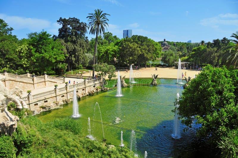 Fuente de Parc de la Ciutadella en Barcelona fotos de archivo