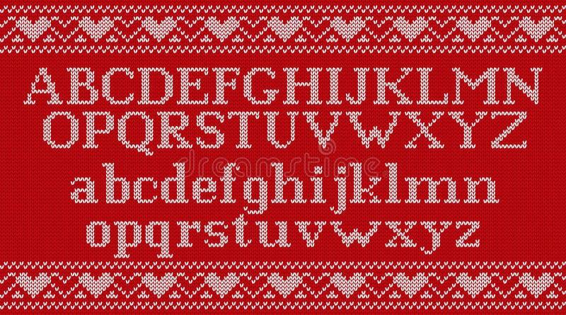 Fuente de punto en fondo hecho punto la Navidad Ilustración del vector libre illustration