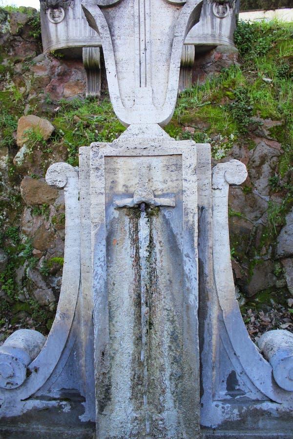 Fuente de Quercia del Tasso en Trastevere Foro romano del Th imagenes de archivo