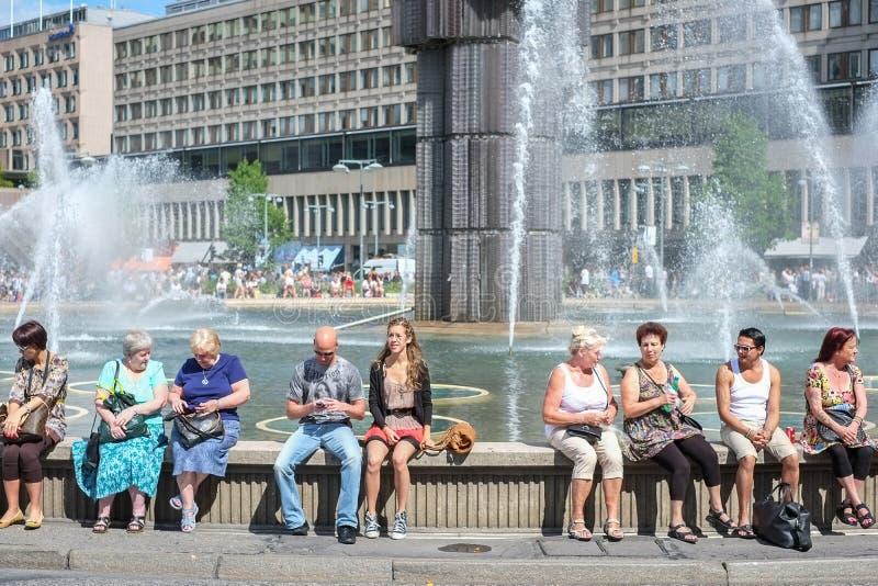 Fuente de Sergel en Estocolmo foto de archivo