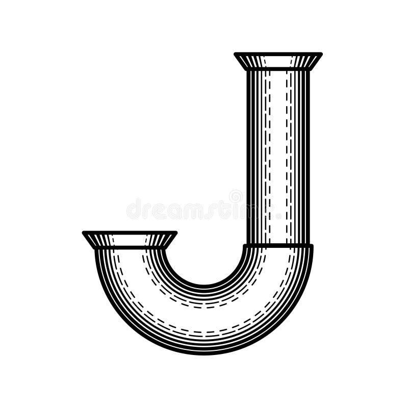 Fuente de Steampunk ilustración del vector
