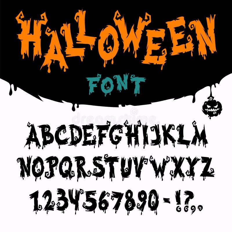 Fuente de vector de Halloween ilustración del vector