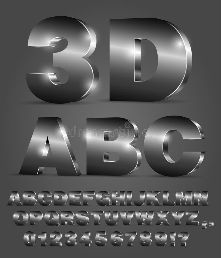 Fuente de vector del alfabeto stock de ilustración