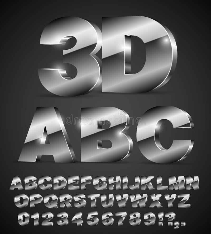 Fuente de vector del alfabeto ilustración del vector