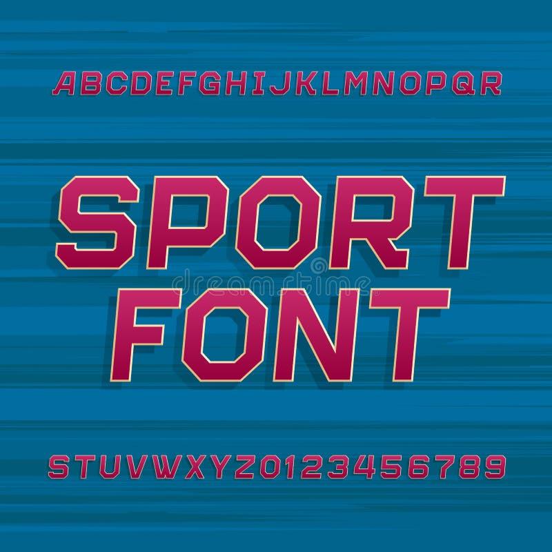 Fuente de vector del alfabeto del deporte ilustración del vector