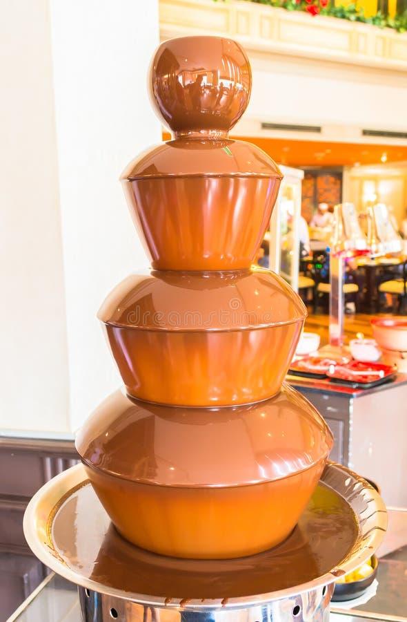 Fuente del chocolate fotos de archivo
