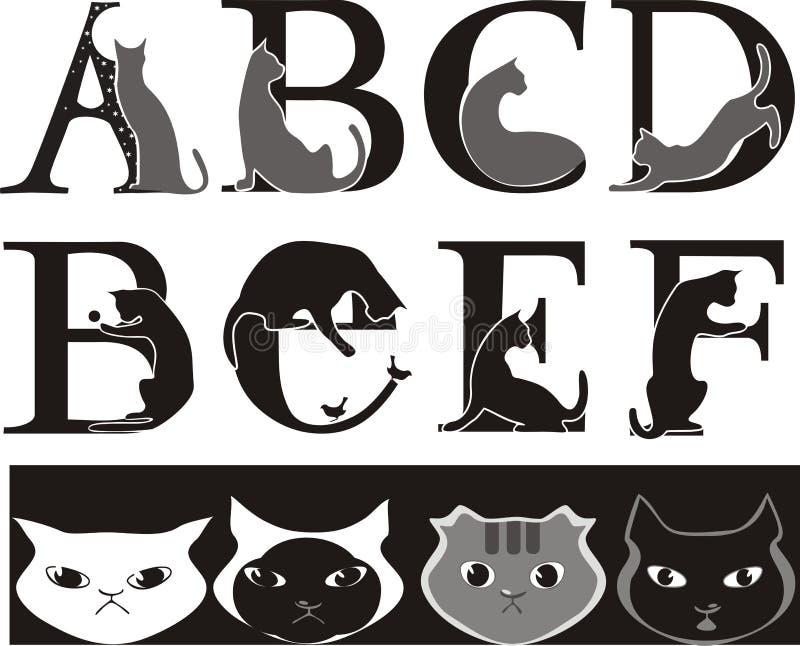 Fuente del gato ilustración del vector