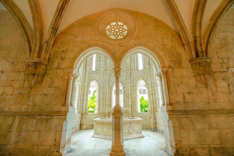 Fuente del monasterio de Alcobaca imagen de archivo libre de regalías