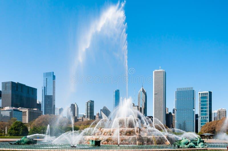 Fuente del monumento de Chicago Buckingham imagen de archivo