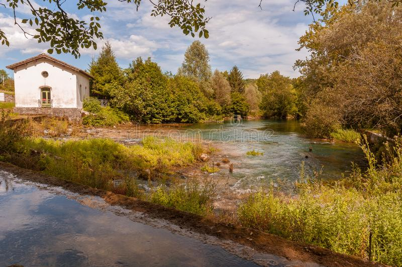 Fuente del río de Livenza, Italia imágenes de archivo libres de regalías