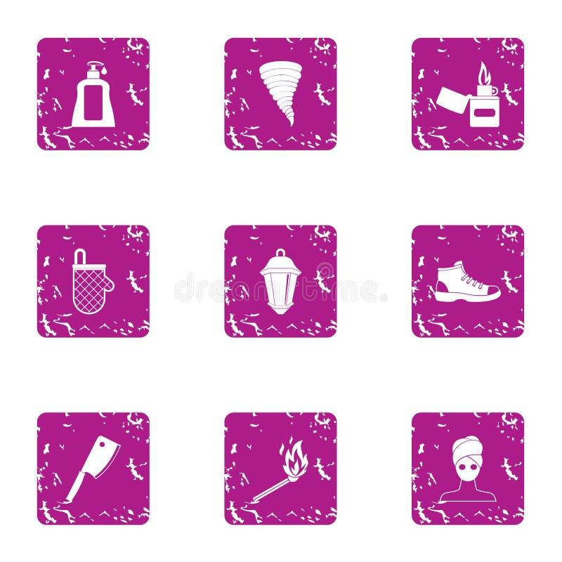 Fuente del sistema de los iconos de juventud, estilo del grunge libre illustration