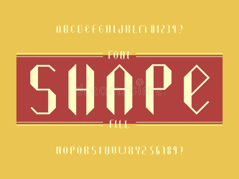 Fuente del terraplén de la forma Alfabeto del vector libre illustration