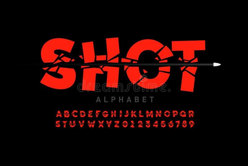 Fuente del tiro de la bala ilustración del vector