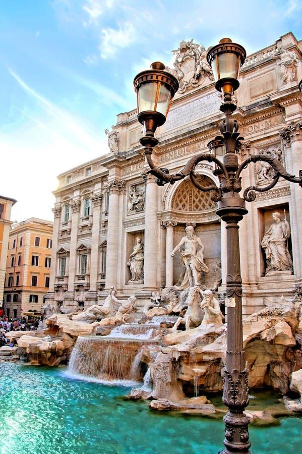 Fuente del Trevi de Roma fotografía de archivo libre de regalías