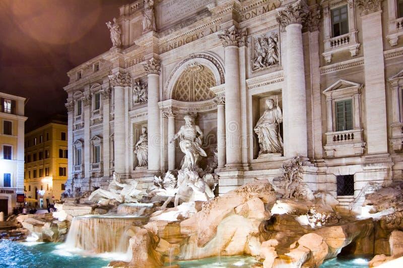 Fuente del Trevi de Roma foto de archivo
