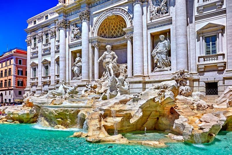 Fuente del Trevi de Roma, Fontana di Trevi en Roma, Italia foto de archivo