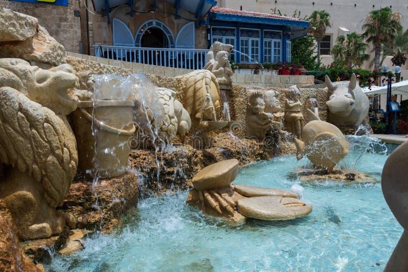 Fuente del zodiaco en Jaffa fotos de archivo libres de regalías