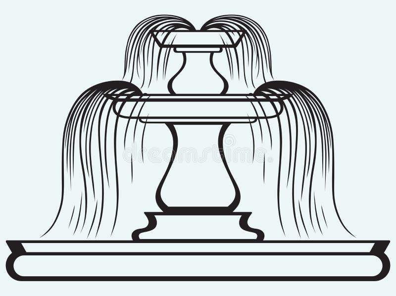 Fuente en el estilo del renacimiento libre illustration