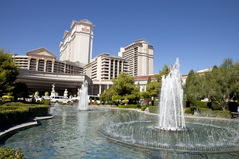Fuente en el hotel y el casino de Caesar's Palace en Las Vegas, Nevada fotografía de archivo libre de regalías