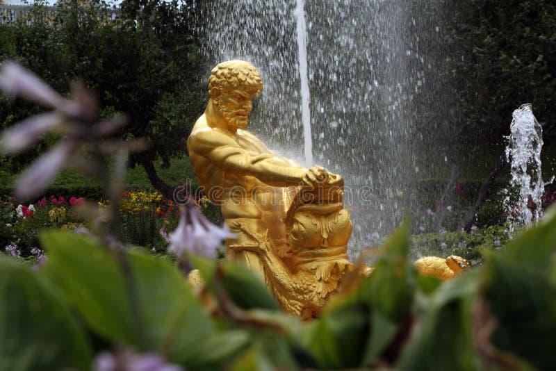 Fuente en el jardín de Petrodvoretz
