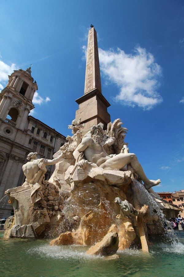 Fuente en Roma fotografía de archivo libre de regalías
