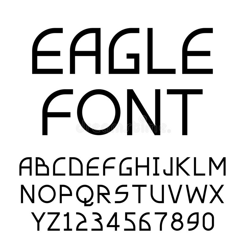 Fuente geométrica de Eagle de sans serif libre illustration