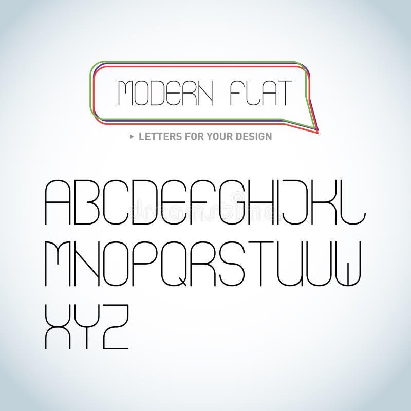 Fuente ligera elegante moderna, diseño de letras del alfabeto Ejemplos aislados libre illustration