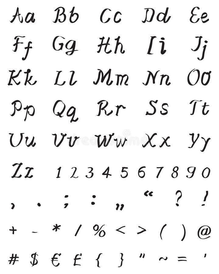 fuente manuscrita para la letra libre illustration