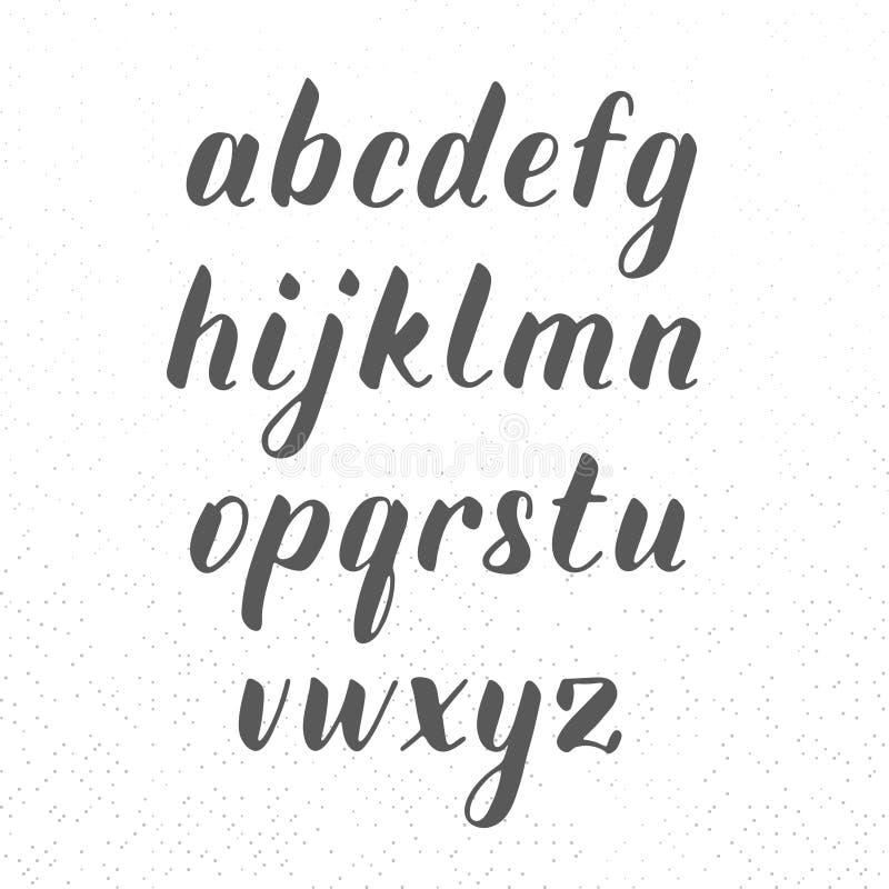 Fuente moderna del lowcase en el fondo de la textura, alfabeto a mano, letras caligráficas, letras universales para las banderas imagen de archivo