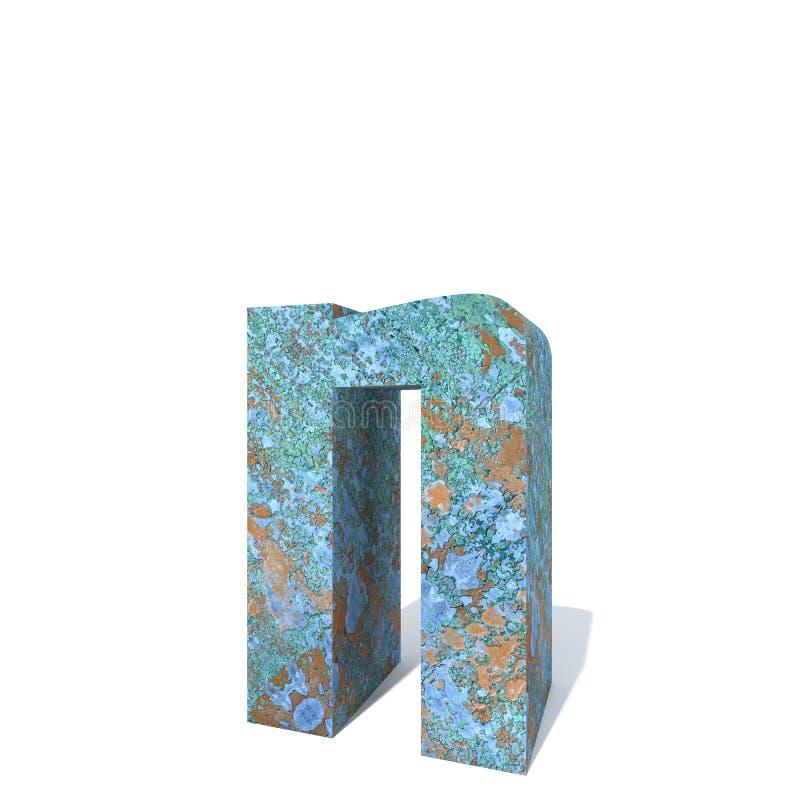 Fuente o tipo aherrumbrado del metal, hierro o pedazo de la industria de acero ilustración del vector