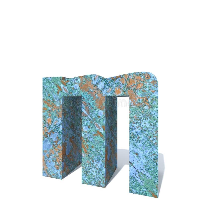 Fuente o tipo aherrumbrado del metal, hierro o pedazo de la industria de acero libre illustration