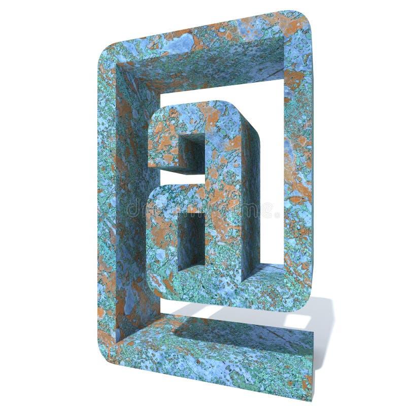 Fuente o tipo aherrumbrado del metal, hierro o pedazo de la industria de acero stock de ilustración