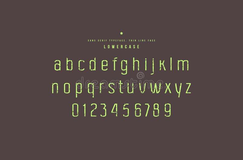 Fuente original de sans serif ilustración del vector