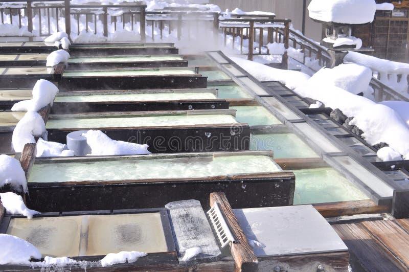 Fuente termal Japón de Kusatsu fotografía de archivo libre de regalías