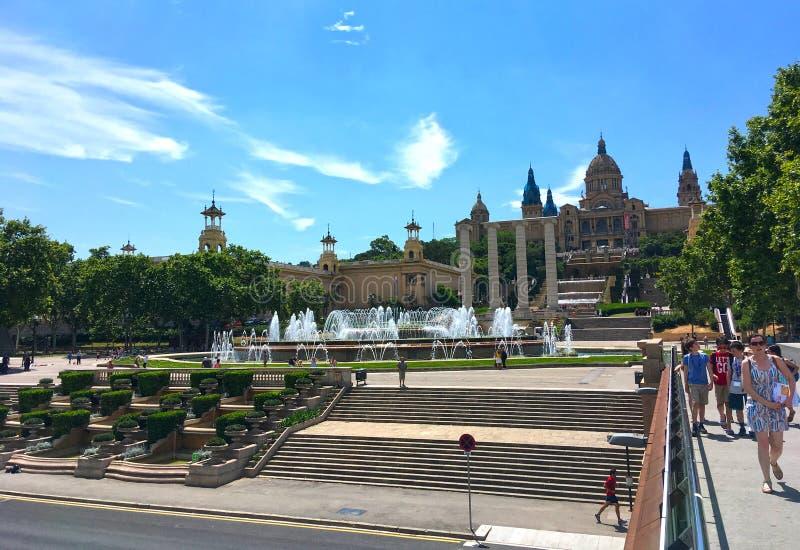 Fuentes Barcelona del canto imagen de archivo