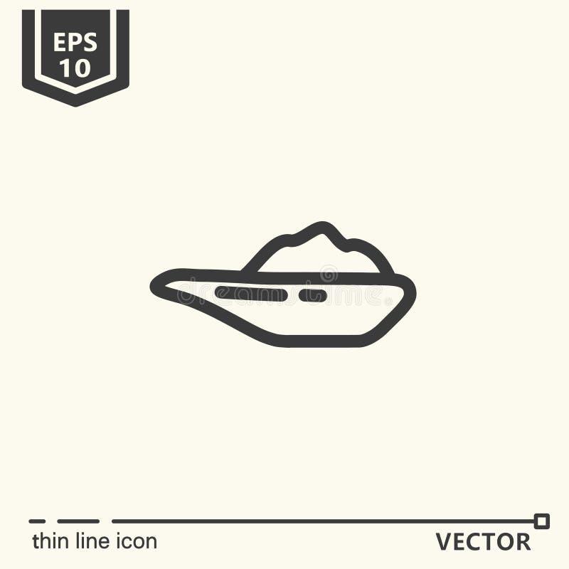 Fuentes de Ayurvedic - serie del icono ilustración del vector
